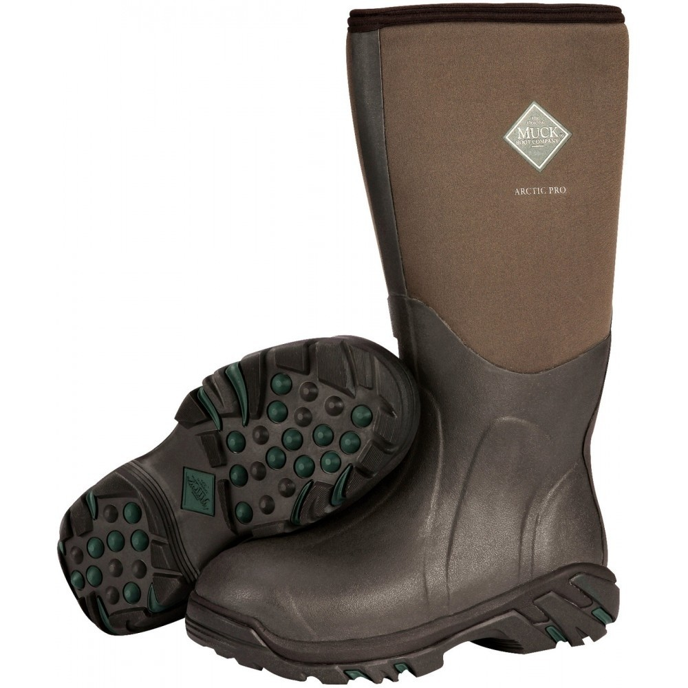 Muck Arctic Pro Extreme-Conditions Plain Toe Brown Hunting Boot