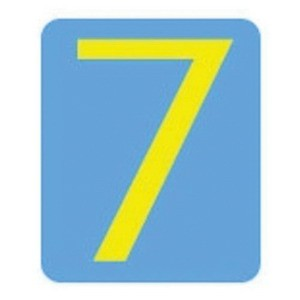 """Brady® Quik-Align® Number Label, 3 in 7"""" Character, Yellow"""""""