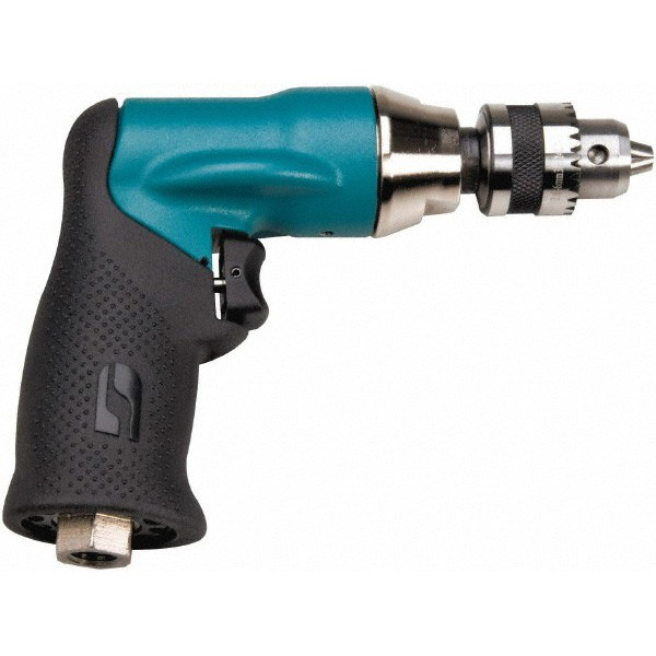 Dynabrade® 52834 Geared Air Powered Drill, 1/4 in Dyna Chuck, 0.4 hp, 23 scfm, 90 psi (Bare Tool)