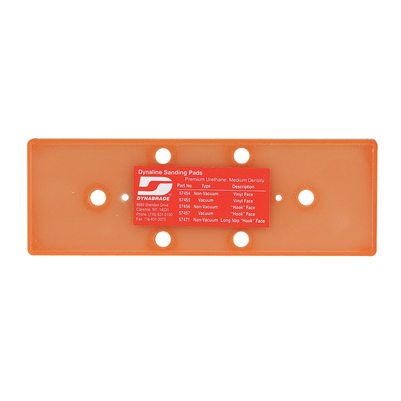 Dynabrade® Dynaline® 57457 Vacuum Backing Pad With 2 Screws, 6 Holes, 2-3/4 in Dia, Hook Attachment
