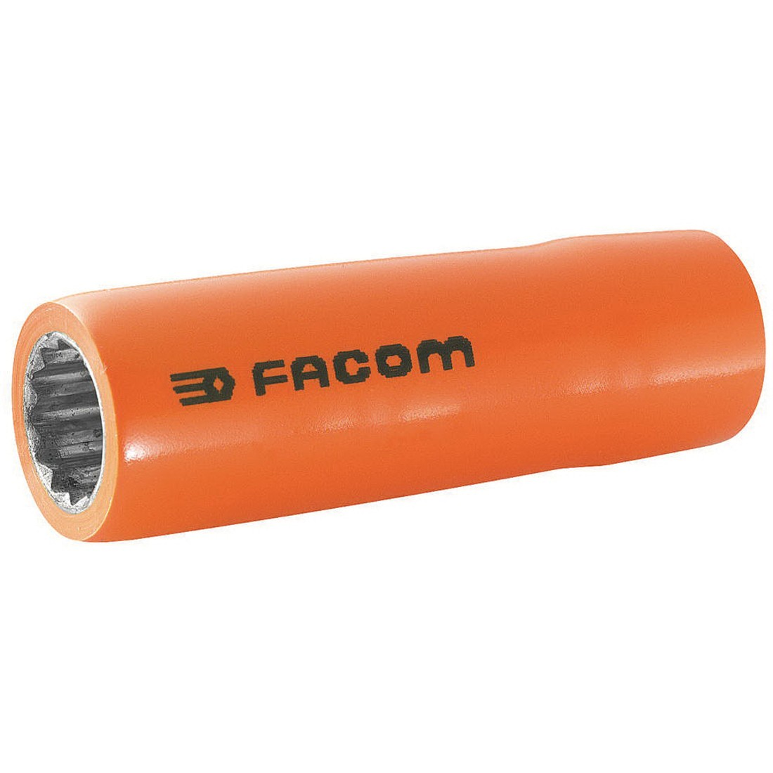 Facom® FM-S.16LAVSE Metric Deep Length Insulated Socket, 12 Point Socket, 1/2 in Square Drive, 16 mm Socket