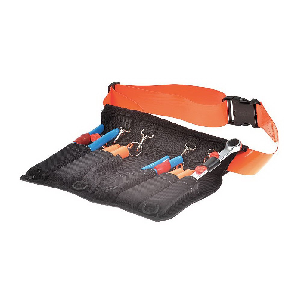 Proto® J072510ATA Retractable Tethered Tool Pouch With Coil Lanyards, 4 Pockets, 36 in Extension, 5 lb Max Tool Weight