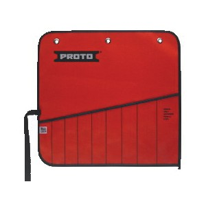 Proto® J25TR35C Tool Roll, 9 Pockets, For Use With J1200HM-T500 Combination Wrench Set, Canvas/Vinyl, Red