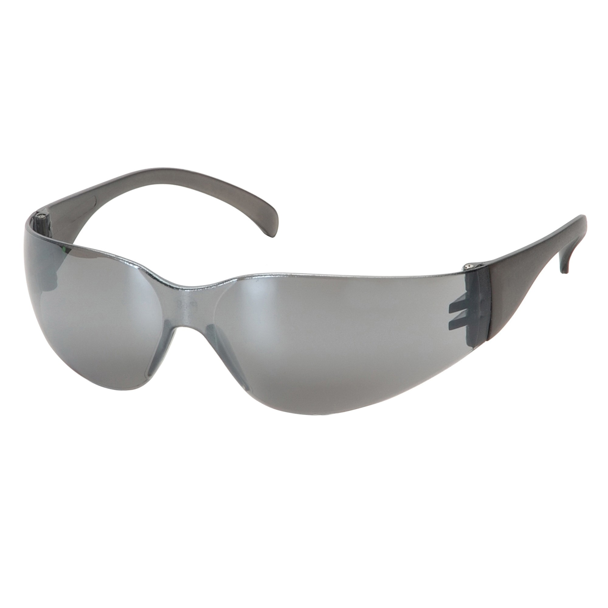 Pyramex® S4170S Light Weight Protective Glasses, Universal, Frameless, Scratch-Resistant Silver Mirror Lens