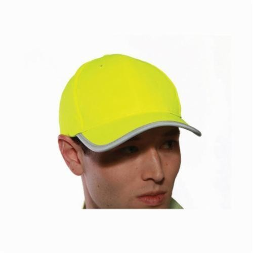 Tingley Job Sight™ H70222 Adjustable Baseball Hat, Universal, Fluorescent Yellow-Green, Polyester