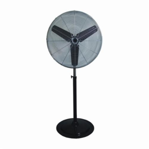 TPI CACU 30-P Standard Air Pedestal Circulator, 30 in Blade, 1/4 HP, 3 Speed, 120V, Pedestal & Wall Mount Commercial Fan, UNASSEMBLED