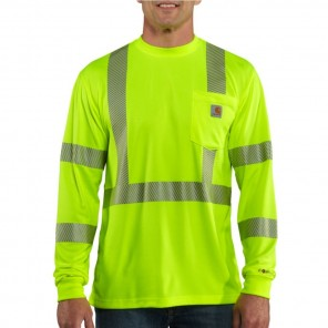 Men's Carhartt Force High-Visibility Long-Sleeve Class 3 T-Shirt