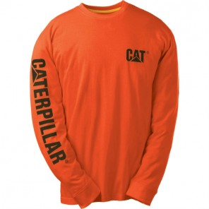 Men's Cat Trademark Banner Long-Sleeve Tee
