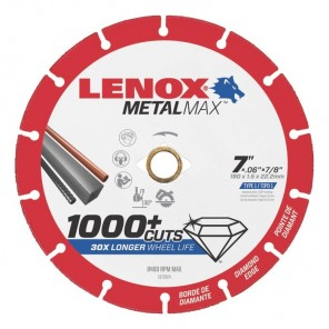"Lenox METALMAX Cut-Off Wheel - 7"" Diameter, .060"" Thickness, 7/8"" Arbor, 1972924"