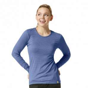 Women's WonderWink Long-Sleeved Striped Tee