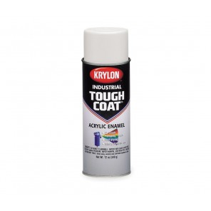 S01800 OSHA White Spray Paint, Tough Coat Acrylic Enamel 16 oz