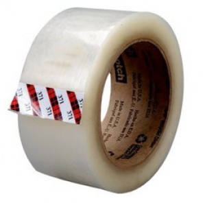 Scotch® 371 Premium Grade Box Sealing Tape, 48 mm W x 100 m Roll L, 1.9 mil THK, Clear