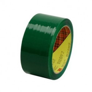 Scotch® 371 Premium Grade Box Sealing Tape, 48 mm W x 100 m Roll L, 1.9 mil THK, Green