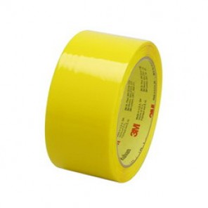 Scotch® 371 Premium Grade Box Sealing Tape, 48 mm W x 100 m Roll L, 1.9 mil THK, Yellow