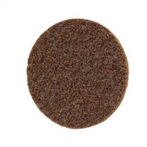 Scotch-Brite™ SC-DR Type TR Surface Conditioning Disc, 3 in Dia, No Hole, Aluminum Oxide Abrasive, Brown