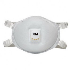 3M™ 8214 Particulate Respirator With Cool Flow™ Exhalation Valve, Standard, N95, 95%, Adjustable Cloth, White