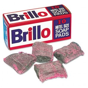 Brillo® W240000CT Hotel Size Steel Wool Soap Pad, 10/Box, 120/Case