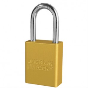 YELLOW PADLOCK KEYED DIFFERENT