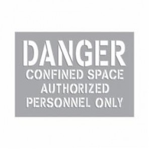 Accuform® CST714 Confined Space Stencil, Mylar