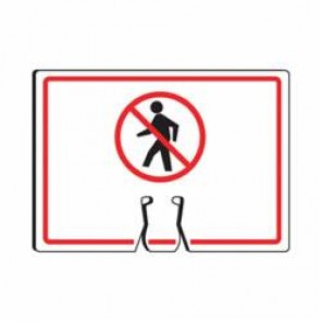 Accuform® FBC731 Traffic Cone Top Warning Sign, 10 in H x 14 in W, 0.06 in Plastic