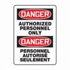 Accuform® FBMADM006VP Bilingual Danger Sign, 14 in H x 10 in W, 0.055 in Plastic