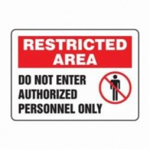 Accuform® MADM463XV Safety Sign, 10 in H x 14 in W, 6 mil Adhesive Dura-Vinyl