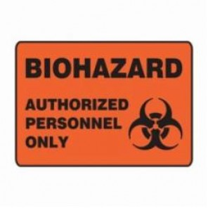Accuform® MBHZ501XV Safety Sign, 7 in H x 10 in W, 6 mil Adhesive Dura-Vinyl