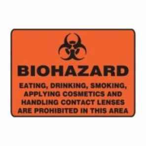 Accuform® MBHZ509XV Safety Sign, 7 in H x 10 in W, 6 mil Adhesive Dura-Vinyl