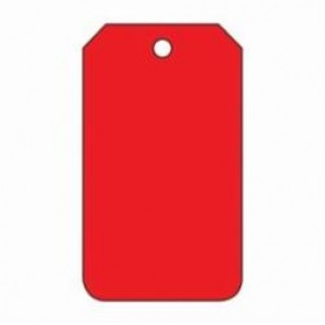 Accuform® MDT523PTP Blank Tag, 3/8 in, Red, RP-Plastic