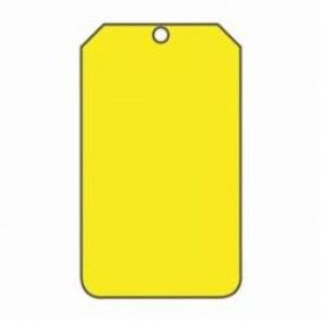 Accuform® MDT524CTP Blank Tag, 3/8 in, Yellow, PF-Cardstock