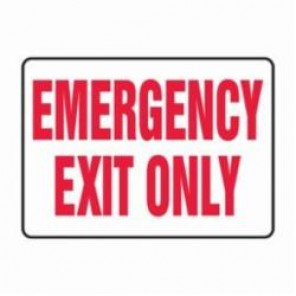 Accuform® MEXT584VA Safety Sign, 7 in H x 10 in W, 0.04 in Aluminum