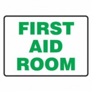 Accuform® MFSD444VA Safety Sign, 10 in H x 14 in W, Green/White, Aluminum