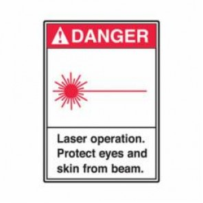 Accuform® MRAD001VA Danger Sign, 14 in H x 10 in W, 0.04 in Aluminum