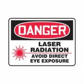 Accuform® MRAD003VP Danger Sign, 7 in H x 10 in W, 0.055 in Plastic