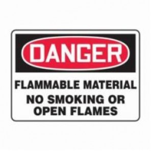 Accuform® MSMK251VS Danger Sign, 7 in H x 10 in W, 4 mil Adhesive Vinyl