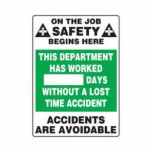 Accuform® MSR120PL Safety Sign, 20 in H x 14 in W, Wall Mount, 0.125 in Plastic
