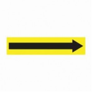 Accuform® RPK749SSA Pipe Marker, Black/Yellow, Self-Sticking