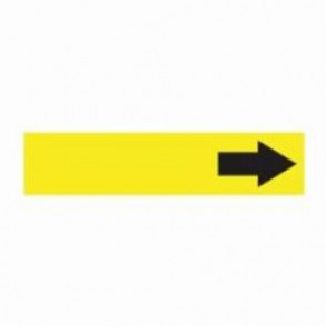 Accuform® RPK763SSA Pipe Marker, Black/Yellow, Self-Sticking