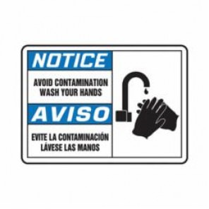 Accuform® SBMCHL811MXV Notice Sign, 10 in H x 14 in W, 6 mil Adhesive Dura-Vinyl