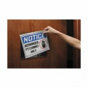 Accuform® DTA118 Wall Mount Sign Holder, 11 in H x 17 in W, Plastic, Clear