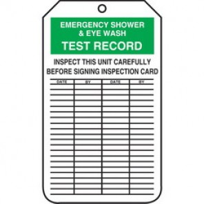 Accuform® MGT207CTM Tear Resistant Waterproof Equipment Status Tag, 5-3/4 in H x 3-1/4 in W, Green/White