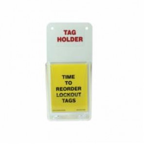 Accuform® TAC811 Tag Holder, DANGER DO NOT START THIS MACHINE Legend, Plastic, Clear/Red/White