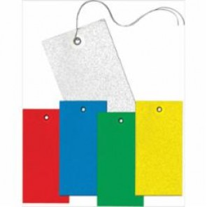Accuform® TBB904P Light Weight Blank Tag, 2-3/8 in H x 4-3/4 in W, 3/16 in, White, DuPont® Tyvek®