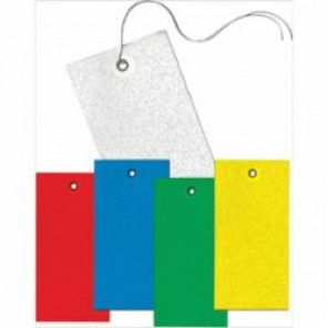 Accuform® TBB925YLP Blank Tag, 2-3/8 in H x 4-3/4 in W, 3/16 in, Yellow, DuPont® Tyvek®