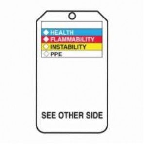 Accuform® THS601CTP Hazardous Material Tag, 3/8 in Hole, PF-Cardstock