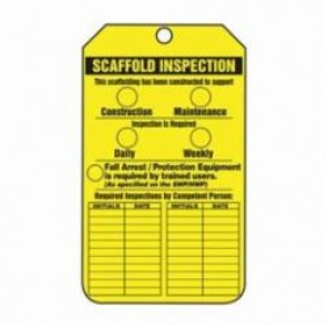 Accuform® TRS318CTP Scaffold Status Tag, 3/8 in Hole, PF-Cardstock