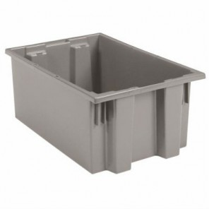 Nest & Stack Tote 35190 - Grey 9 gallon capacity