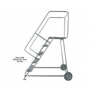 """ALUMINUM LADDERS-WHEELBARROW STYLE, Tread: Serrated Grating, No. Steps: 10, Top Height: 100"""", Overall Height: 133"""", Step Width: 18"""", Base W x L: 36 x 78"""""""