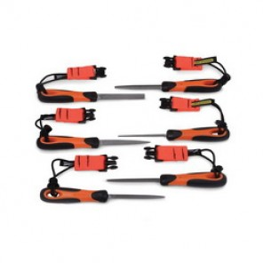 Bahco® Tools@Height™ 1-476-04-3-2-TH Double Cut Engineering File Set, 6 Pieces, 4 in L, Smooth Cut, For Use With WTHUNIRET1 Retractable Lanyards