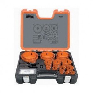 Bahco® 862021 Professional Hole Saw Set, 21 Pieces, For Use With 9/16 to 13/16 in and 1-1/4 to 6 in Hole Saws